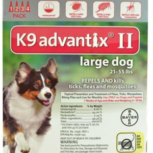 Advantix II K9 Flea Tick & Mosquito Treatment Large Dog 21-55 lbs -- 4 Tubes