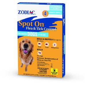Zodiac Flea And Tick Control Drops For Dog