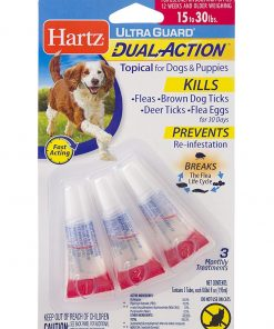 HARTZ Ultra Guard Dual Action Drops For Dogs And Puppies, 15-30 lb