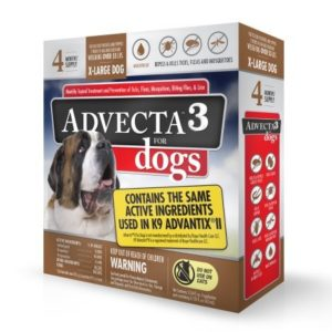 Advecta 3 Flea and Tick Topical Treatment, Flea And Tick Control For Dogs, X-Large, 4 Month Supply