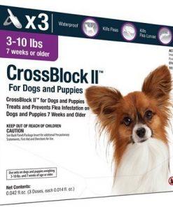 CrossBlock II Flea Preventative For Dogs 3-10lb. (3-Pack)