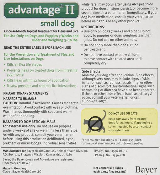 Advantage II Small Dog 4-Pack