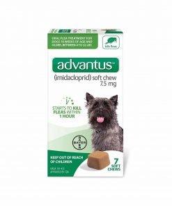 Advantus Flea Soft Chews For Small Dogs 4-22lbs, 7 count