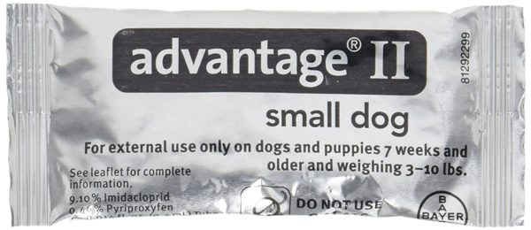 Advantage II Small Dog 4-Pack