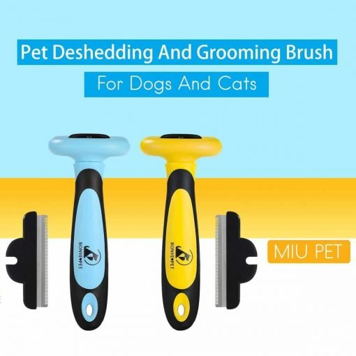 Bonve Pet Dog Brush - Professional Pet Cat Dog Grooming Brush - Effectively Pet Deshedding Brush - Reduces Shedding Up to 95% Best Dog Hair Brush for Small Large Dogs Cats Pets Long Short Hair