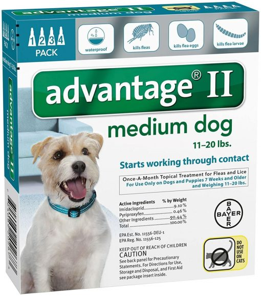 Advantage II Medium Dog 4-Pack